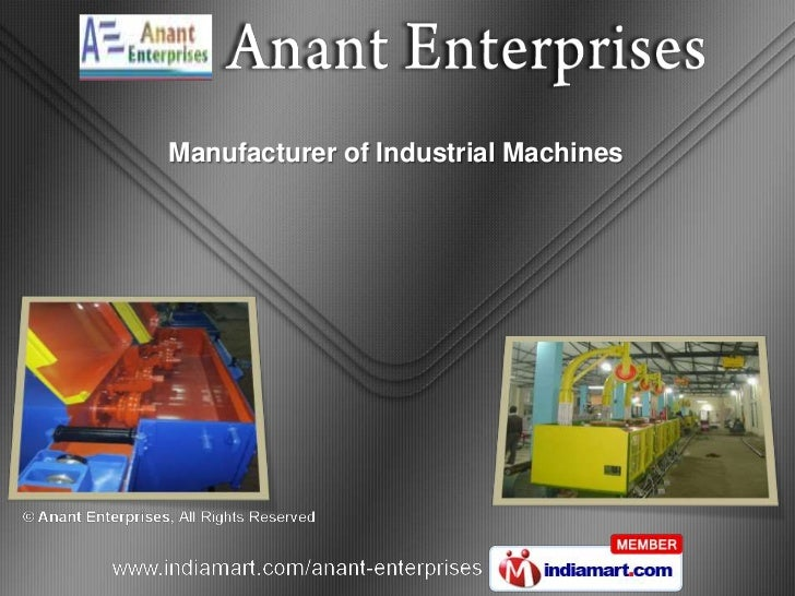 Manufacturer of Industrial Machines