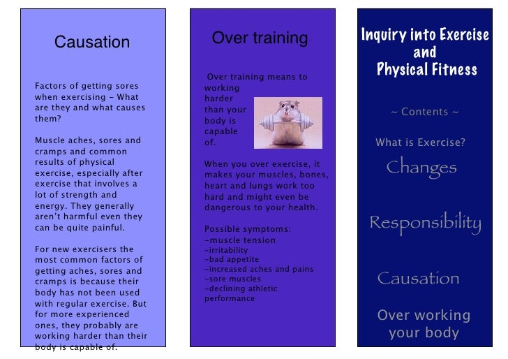 Causation                 Over training               Inquiry into Exercise                                               ...