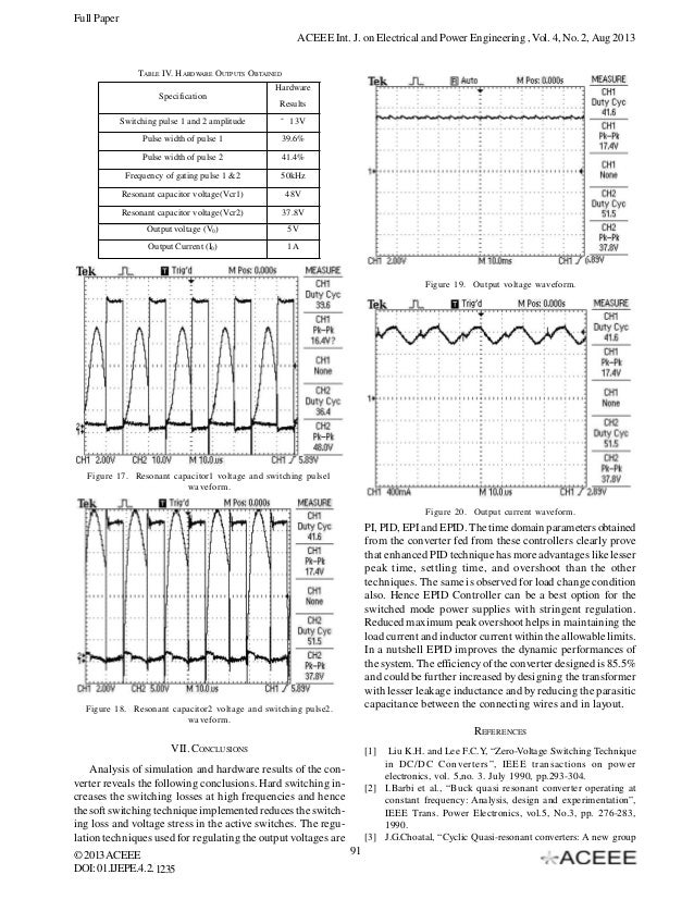 analysis of a quasi resonant switch mode power supply for