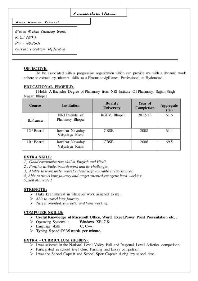 resume for better job