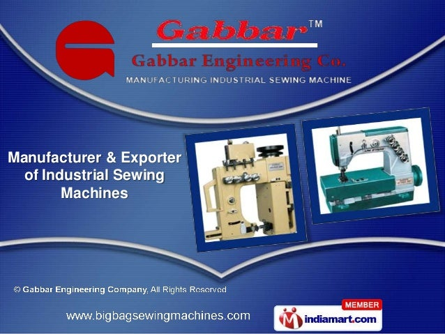 Manufacturer & Exporter  of Industrial Sewing        Machines
