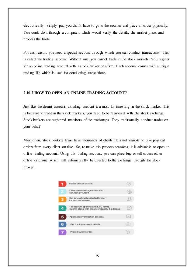 Internship report at Share Broking (123CAPITALS)