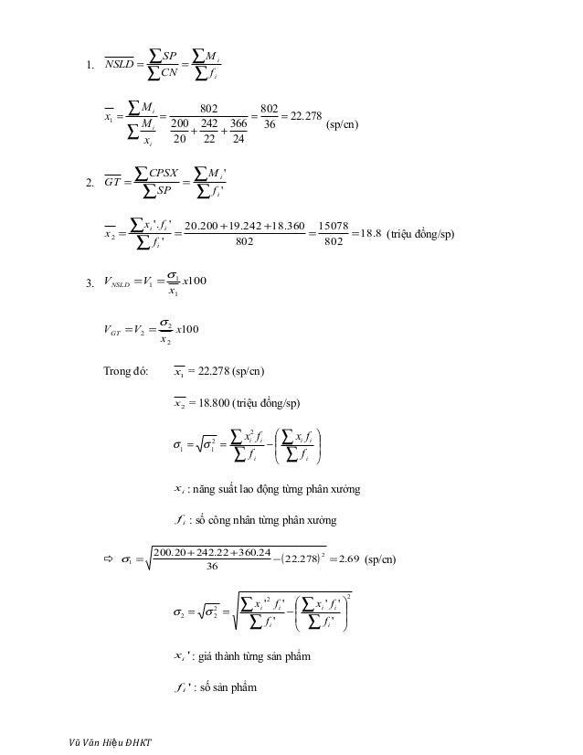 1. ∑ ∑ ∑ ∑ == i i f M CN SP NSLD 278.22 36 802 24 366 22 242 20 200 802 1 == ++ == ∑ ∑ i i i x M M x (sp/cn) 2. ∑ ∑ ∑ ∑ ==...