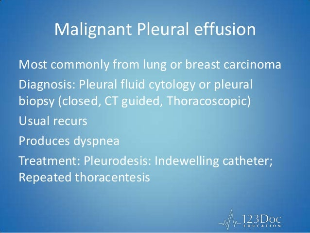Pleural Effusion - Respiratory MRCP 1 - 123Doc Education