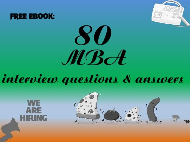 80 1 MBA interview questions & answers FREE EBOOK: