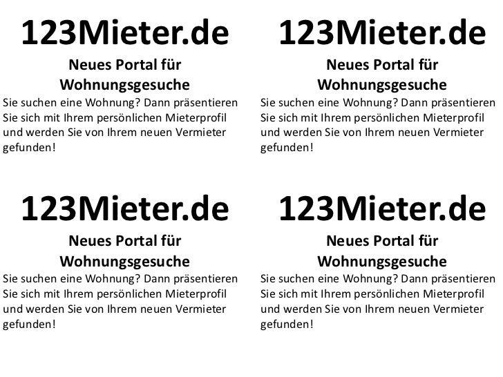 123Mieter.de                                   123Mieter.de           Neues Portal für                               Neues...