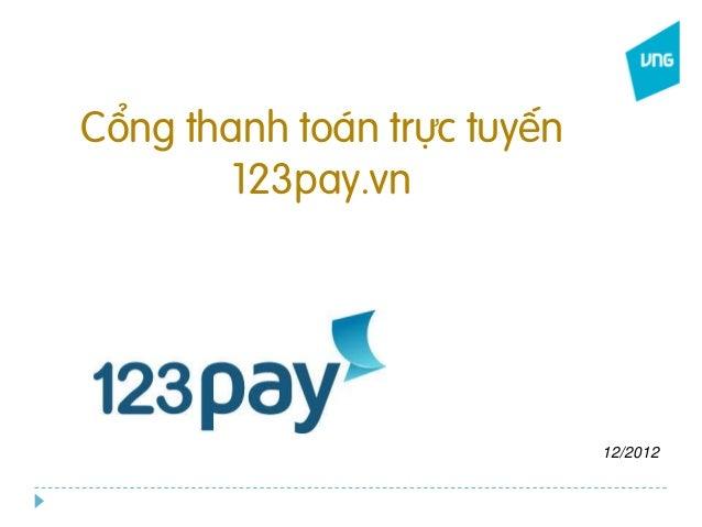Cổng thanh toán trực tuyến 123pay.vn ...