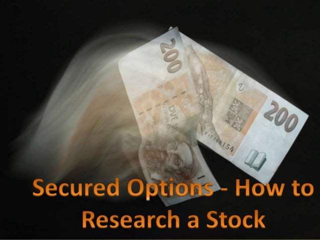 Stock options research