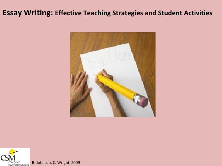 essay writing effective teaching strategies and student activities b - Strategies For Essay Writing