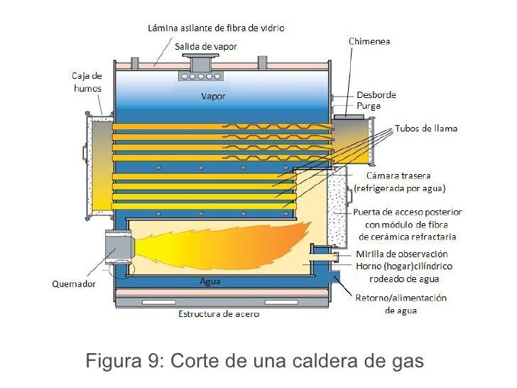 Figura 9: Corte de una caldera de gas
