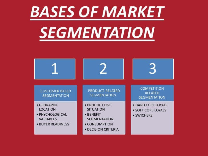 mcdonalds segmentation criteria To discuss about market segmentation, targeting, positioning, first  generally three criteria can be used to identify different market segments: homogeneity .