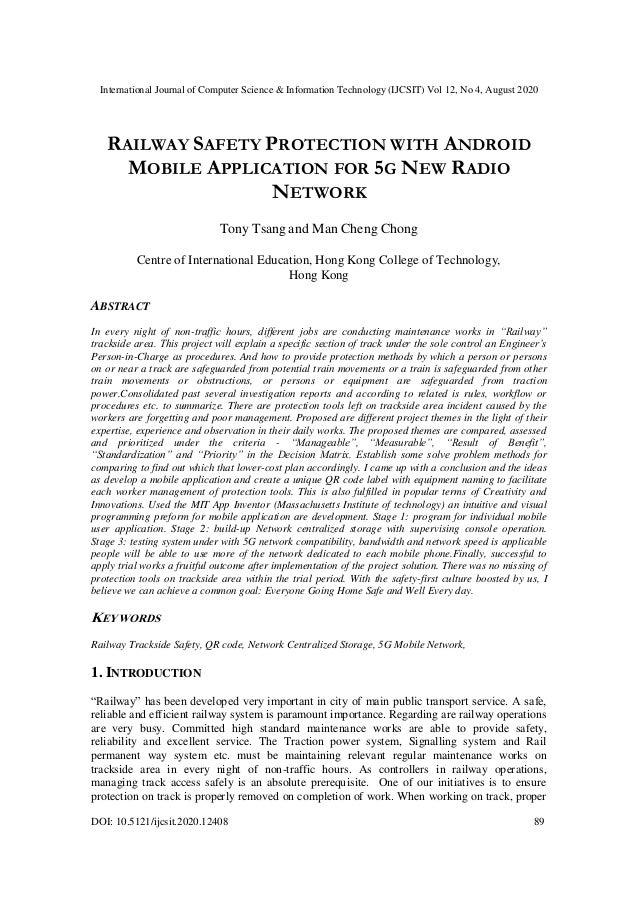 International Journal of Computer Science & Information Technology (IJCSIT) Vol 12, No 4, August 2020 DOI: 10.5121/ijcsit....