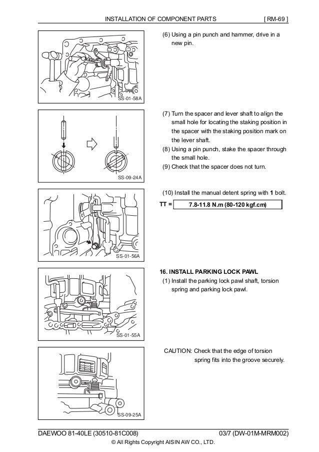 124361534 daewoo 8140le repair rh slideshare net aisin 30-40le manual aisin 30-40le repair manual