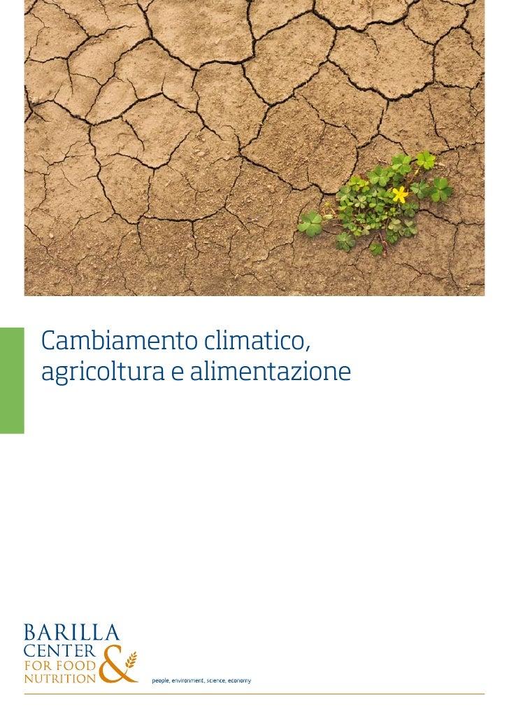 Cambiamento climatico, agricoltura e alimentazione
