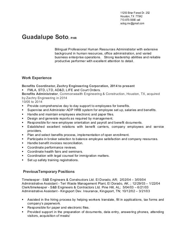Guadalupe Soto Resume