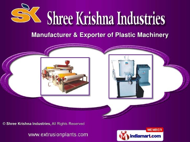 Manufacturer & Exporter of Plastic Machinery