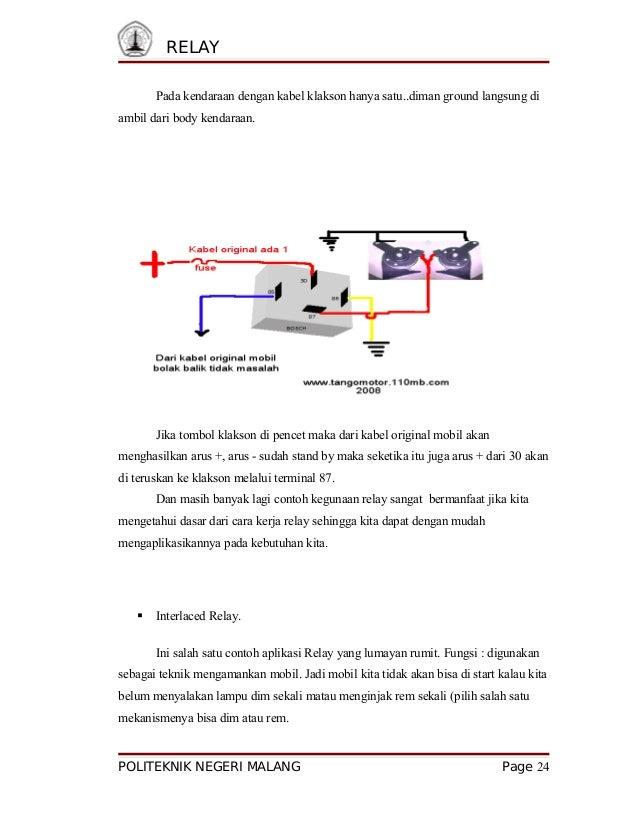 Wiring Diagram Relay Klakson