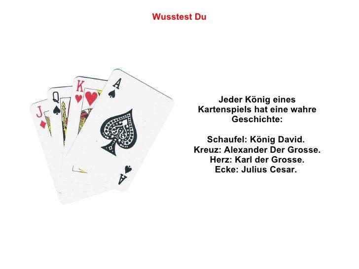 Jeder König eines Kartenspiels hat eine wahre Geschichte: Schaufel: König David.  Kreuz: Alexander Der Grosse. Herz: Karl ...