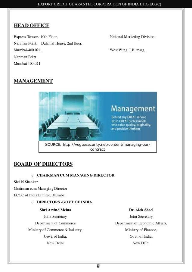 124796166 ecgc export credit guarantee corporation - National express head office number ...