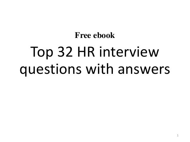 Free ebook Top 32 HR interview questions with answers 1