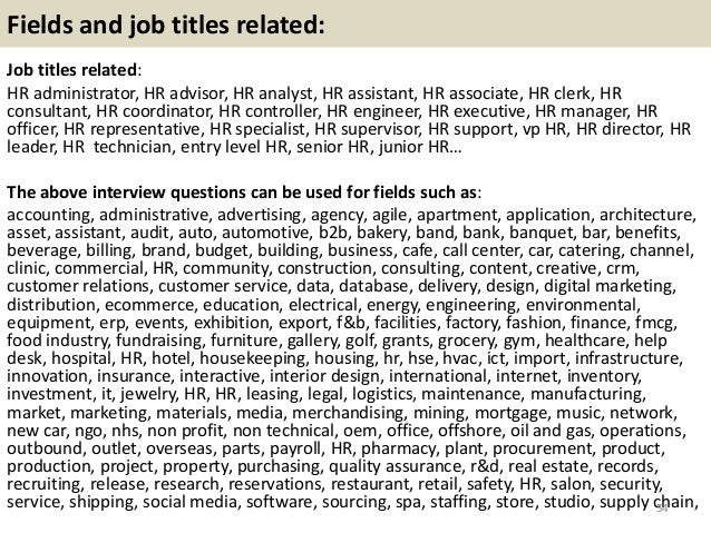Top 32 HR interview questions and answers pdf