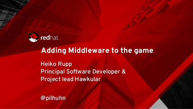 Adding Middleware to the game Heiko Rupp