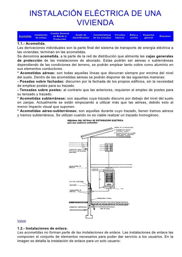 INSTALACIÓN ELÉCTRICA DE UNA                   VIVIENDA                           Cuadro General             Instalación  ...