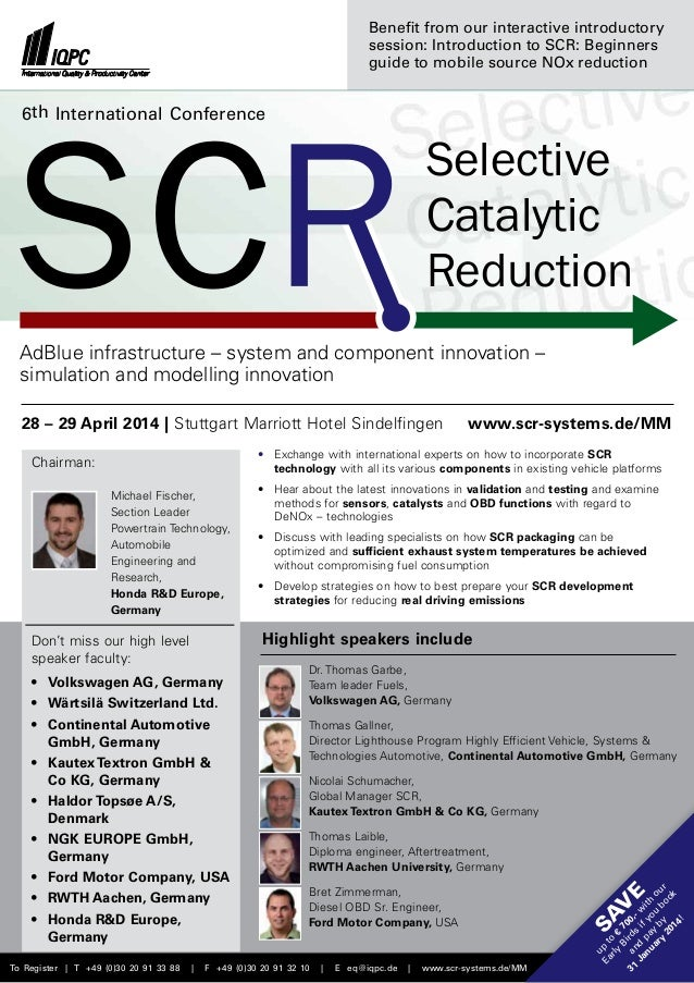 Benefit from our interactive introductory session: Introduction to SCR: Beginners guide to mobile source NOx reduction  6t...