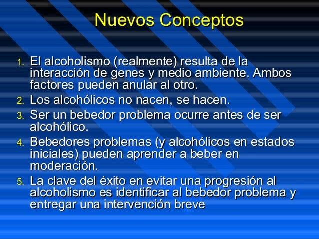Las conferencias al tema del alcoholismo