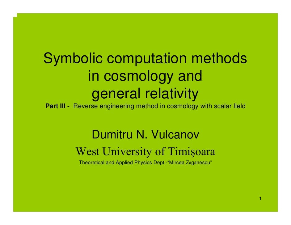 Symbolic computation methods      in cosmology and       general relativity Part III - Reverse engineering method in cosmo...