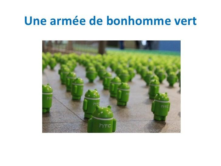 Une armée de bonhomme vert