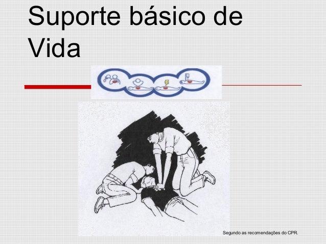 Suporte básico de Vida Segundo as recomendações do CPR.