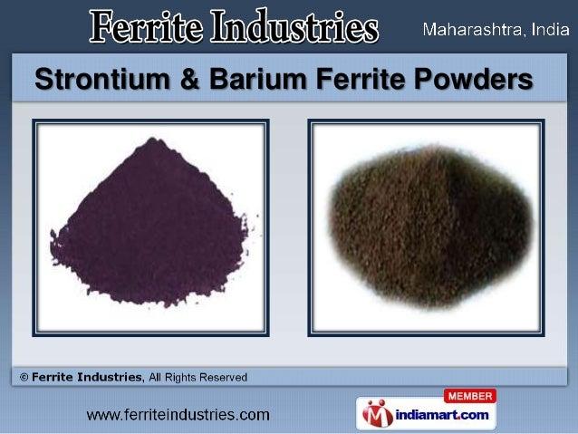 Strontium & Barium Ferrite Powders