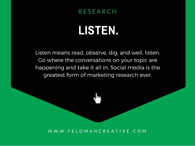 LISTEN.   Listen means read,  observe,  dig,  and well.  listen.  Go where the conversations on your topic are happening a...