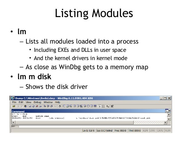 CNIT 126: 10: Kernel Debugging with WinDbg