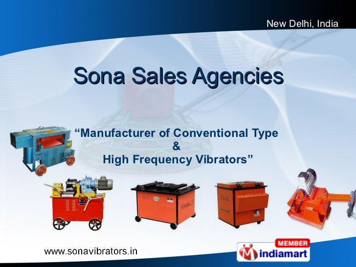"""Sona Sales Agencies """" Manufacturer of Conventional Type  &  High Frequency Vibrators"""""""