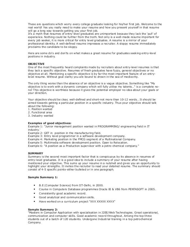 resumes objectives sop example general tips to overcome an interview