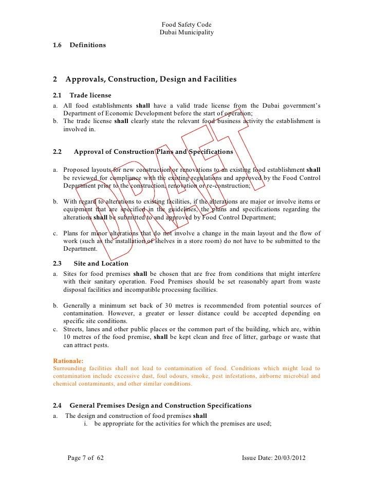 dubai municipality food safety guidelines
