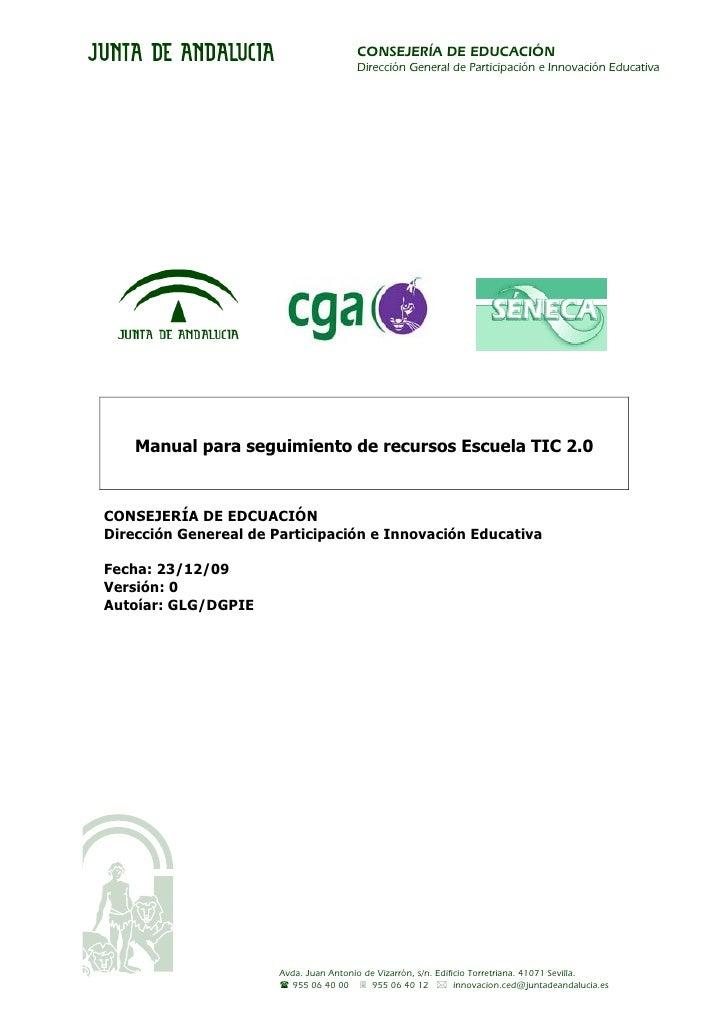 CONSEJERÍA DE EDUCACIÓN                                         Dirección General de Participación e Innovación Educativa ...