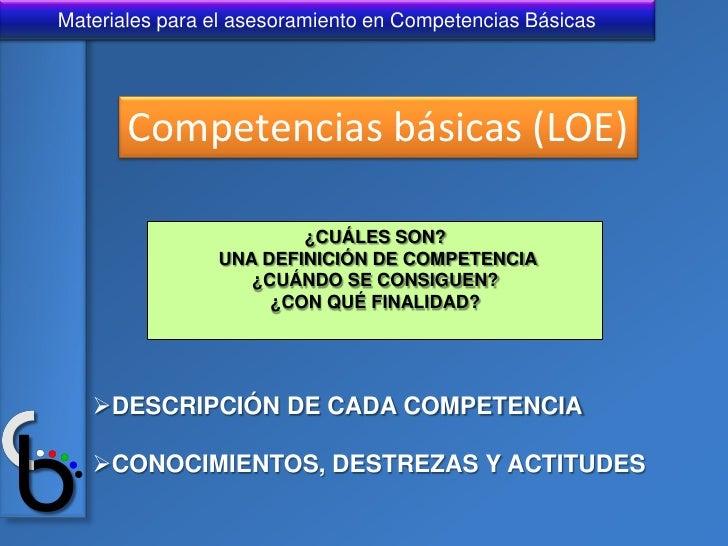 Diapositivas sobre Competencias Basicas Slide 2