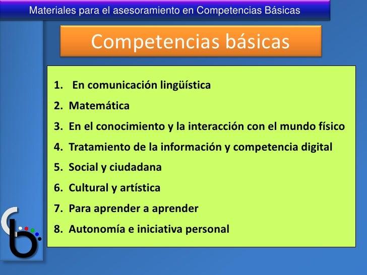 Diapositivas sobre Competencias Basicas Slide 3