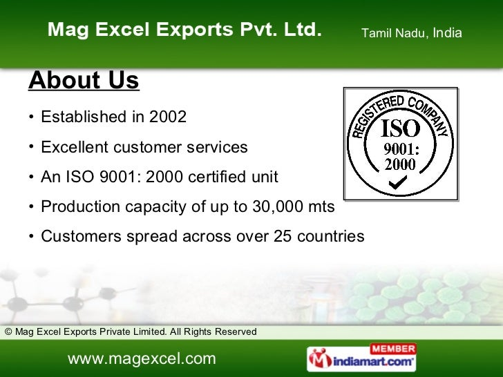 Water Treatment Chemical by Mag Excel Exports Private Limited Chennai Slide 2