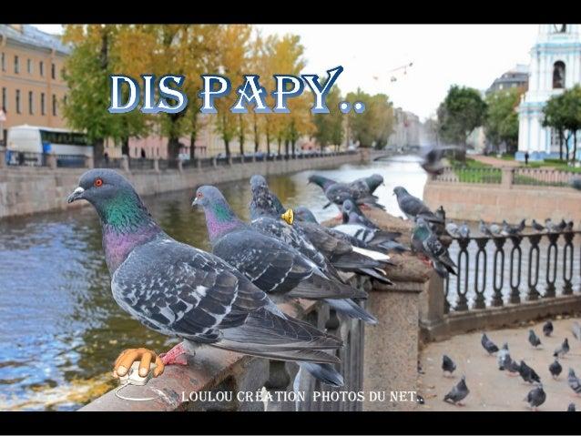 Dis PapyLouLou création photos du net..