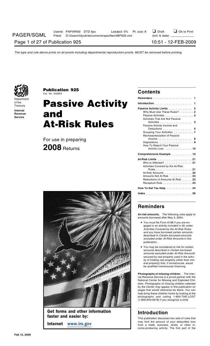 2008 Publication 925