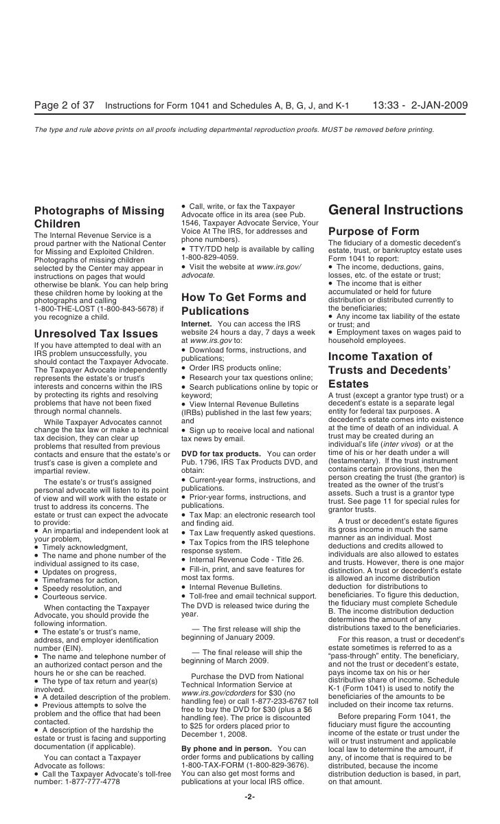 Instructions for Form 1041, U.S. Income Tax Return for Estates and Tr…