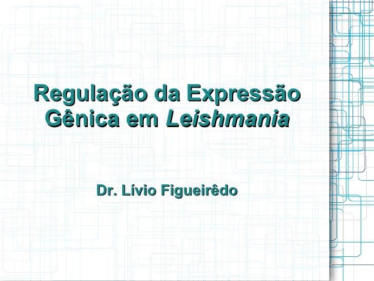Regulação da Expressão Gênica em Leishmania     Dr. Lívio Figueirêdo