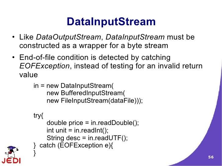 how to avoid eofexception objectinputstream
