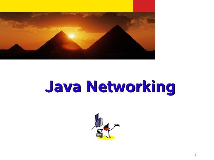 Java Networking                  1