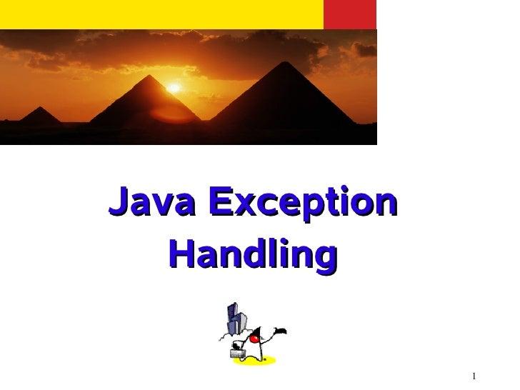 Java Exception   Handling                 1