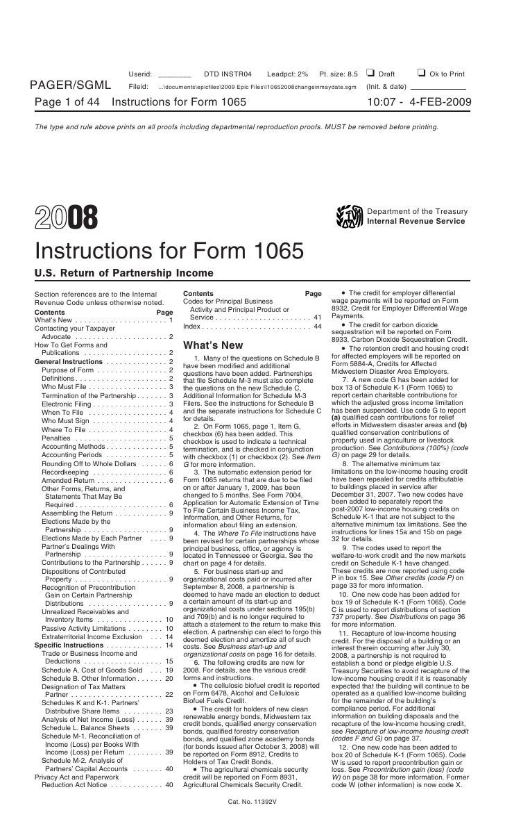 Inst 1065 instructions for form 1065 us return of partnership inco falaconquin
